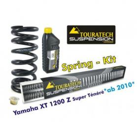 Muelles progresivos de intercambio Hyperpro para horquilla y tubo amortiguador para Yamaha XT1200Z Super Tenere desde el año 2010