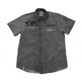 """Camisa de manga corta """"1990"""", hombre, gris"""