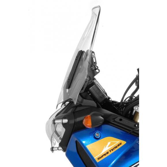 Regulador del parabrisas con barra de montaje para GPS en Yamaha XT1200Z Super Tenere hasta 2013
