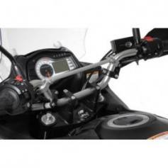 Elevador de manillar 30 mm modelo 3, negro, para Suzuki DL 650/V-Strom 650/DL1000, KTM LC4