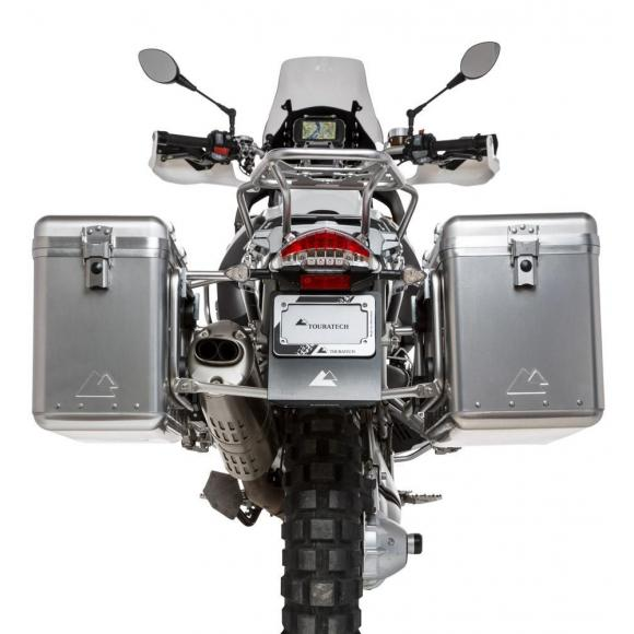 ZEGA Mundo sistema de maletas con soporte acero fino para BMW R1200GS hasta 2012/R1200GS Adventure hasta 2013