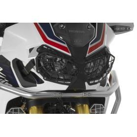 Protección de aluminio para los faros, negra, con cierre rápido, para Honda CRF1000L Africa Twin/ CRF1000L Adventure Sports