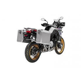 ZEGA Mundo sistema de maletas 31/38 litros con soporte acero fino para BMW F850GS/F750GS