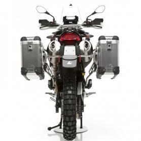 ZEGA Pro sistema de maletas 31/31 ltr. con soporte acero inox para BMW F650GS / F650GS Dakar / G650GS / G650GS Sertao
