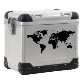 Etiqueta de maleta ZEGA PRO/ZEGA Pro2/ZEGA Mundo mapamundi negra