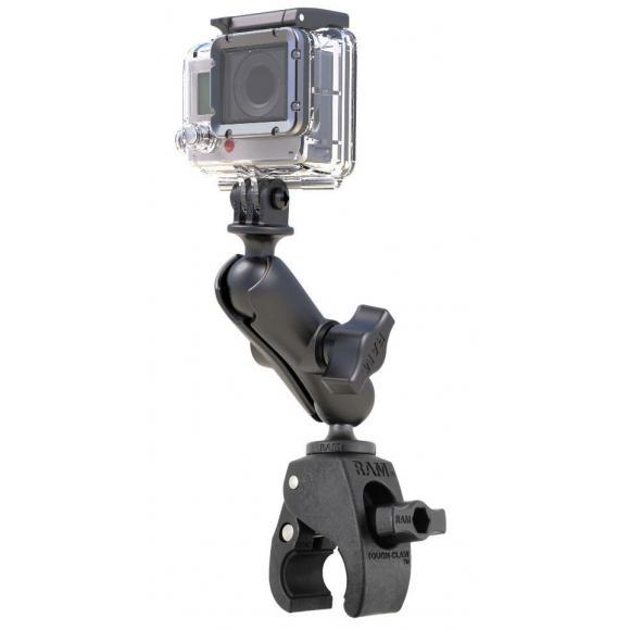 Soporte de bola doble con adaptador de cámara de acción universal