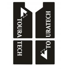 Pegatinas Touratech para la horquilla de BMW R 1200 GS / R 1200 GS Adventure hasta 2012