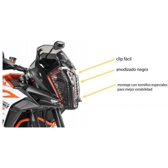 Protector de faro negro de acero inoxidable para KTM 1290 Super Adventure