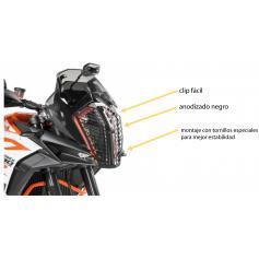 Protección de faro, aluminio, con cierre rápido para KTM 1290 Super Adventure S/ R (2017-)