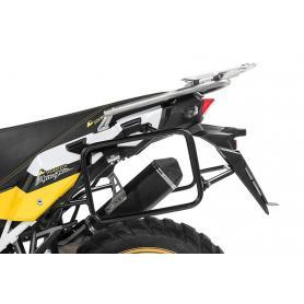 Portamaletas de acero inoxidable, negro para Honda CRF1000L Africa Twin (2018-) /CRF1000L Adventure Sports