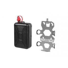 Juego de soportes de accesorios ZEGA Evo, soporte de bidón de aceite incluido para bidón de aceite Touratech 2 litros