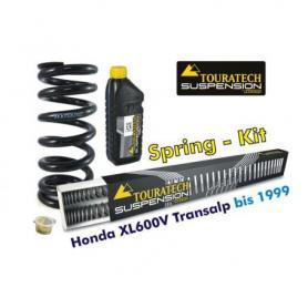 Muelles progresivos de intercambio Hyperpro para horquilla y tubo amortiguador, Honda XL600V Transalp 1989-2000