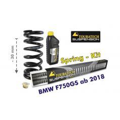 Muelle para reducción de altura de 30 mm para BMW F750GS
