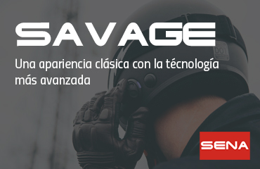 Casco jet Savage Sena