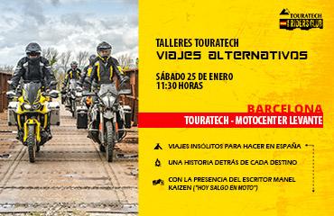 «Viajes en moto alternativos» en Touratech Barcelona