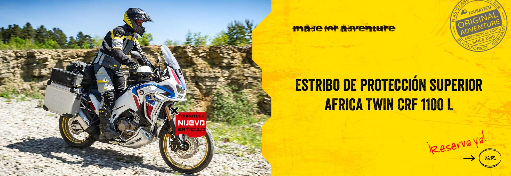 Defensa superior Africa Twin CRF 1100 L